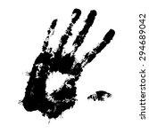 ink isolated vector handprint.... | Shutterstock .eps vector #294689042