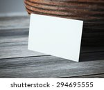 blank business card on the table | Shutterstock . vector #294695555