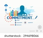 commitment concept and business ... | Shutterstock .eps vector #294698066