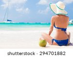 happy young woman smiling in...   Shutterstock . vector #294701882