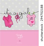 Girl Baby Shower Card   It's A...