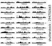 east european cities vector... | Shutterstock .eps vector #294702665