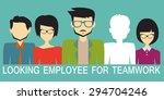 looking for an employee | Shutterstock .eps vector #294704246
