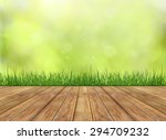 fresh spring green grass with... | Shutterstock . vector #294709232