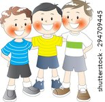 three boys together | Shutterstock .eps vector #294709445