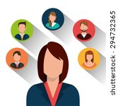 teamwork digital design  vector ... | Shutterstock .eps vector #294732365