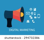 digital marketing design ...   Shutterstock .eps vector #294732386