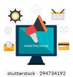 digital marketing design ... | Shutterstock .eps vector #294734192
