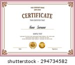 certificate  modern design... | Shutterstock .eps vector #294734582