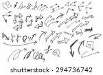 vector hand drawn arrows set... | Shutterstock .eps vector #294736742