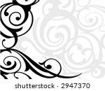 decorative border design | Shutterstock .eps vector #2947370