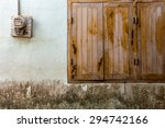 old windows and electric meters | Shutterstock . vector #294742166