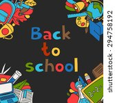 back to school background with... | Shutterstock .eps vector #294758192