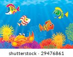 crab and coral fishes | Shutterstock . vector #29476861