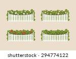 various flowering shrubs and... | Shutterstock .eps vector #294774122