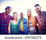 friendship bonding relaxation... | Shutterstock . vector #294780275