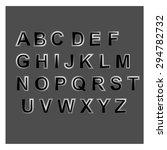 alphabet  script  character  abc   Shutterstock .eps vector #294782732