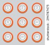 warranty guarantee seal orange... | Shutterstock .eps vector #294787475