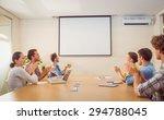 attentive business team... | Shutterstock . vector #294788045