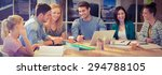 group of young colleagues using ...   Shutterstock . vector #294788105