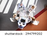 high angle view of business... | Shutterstock . vector #294799202