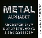 metal beveled alphabet. letters ...   Shutterstock .eps vector #294800888
