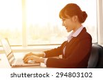 young   businesswoman working... | Shutterstock . vector #294803102