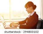 young   businesswoman working... | Shutterstock . vector #294803102