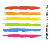 vector set of colorful brush... | Shutterstock .eps vector #294812762