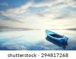 Canoe Floating On The Calm...