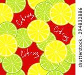 seamless citrus pattern. fruit... | Shutterstock . vector #294832886