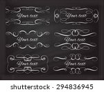 set of elegant white flourishes ... | Shutterstock .eps vector #294836945