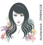 long hair style icon  logo... | Shutterstock .eps vector #294844118