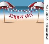 summer sale background | Shutterstock . vector #294844442