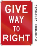 old give way to right sign used ... | Shutterstock . vector #294845252