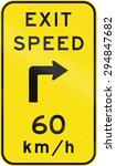 an australian warning traffic... | Shutterstock . vector #294847682