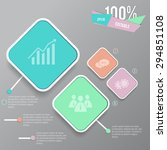 info graphic web elements with... | Shutterstock .eps vector #294851108