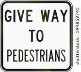 an australian road sign  give... | Shutterstock . vector #294859742