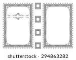 vector classical book cover.... | Shutterstock .eps vector #294863282