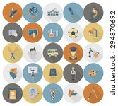 school and education icon set.... | Shutterstock .eps vector #294870692