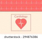 cardiology concept. medical... | Shutterstock .eps vector #294876386
