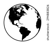 earth globe symbol | Shutterstock .eps vector #294883826