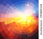 abstract sunset effect... | Shutterstock .eps vector #294885146