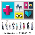 healthcare check up medical... | Shutterstock . vector #294888152