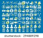 business icon set. these flat... | Shutterstock .eps vector #294889298