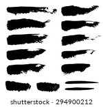 set of grunge vector textured... | Shutterstock .eps vector #294900212