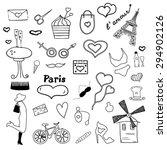 paris doodle | Shutterstock .eps vector #294902126