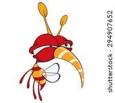cartoon illustration of a red... | Shutterstock .eps vector #294907652