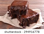 delicious chocolate cakes on... | Shutterstock . vector #294916778