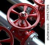 3d shiny pipelines on black... | Shutterstock . vector #294917396